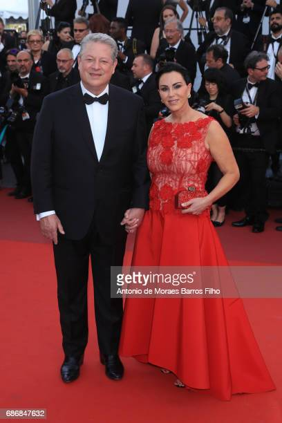 Al Gore and Elizabeth Keadle of An Inconvenient Sequel Truth to Power attend the The Killing Of A Sacred Deer screening during the 70th annual Cannes...