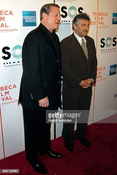 Al Gore and Robert De Niro attend Opening of Tribeca Film Festival SOS Short Film Program at BMCC Tribeca PAC on April 25 2007 in New York City