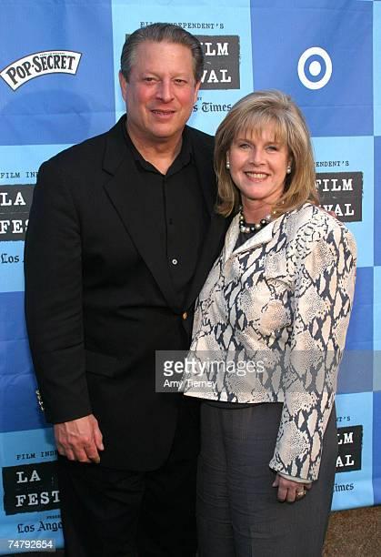 Al Gore and Tipper Gore at the California Plaza in Los Angeles, California