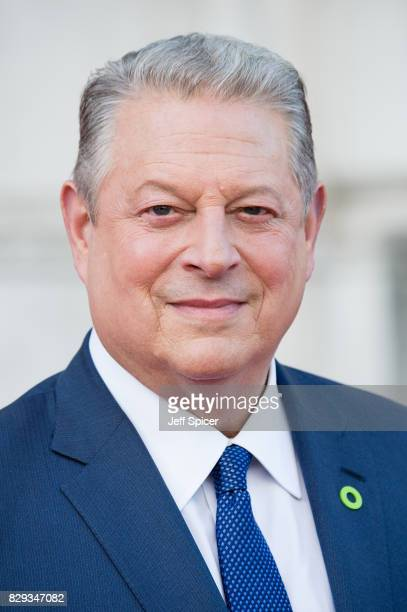 Al Gore arrives at 'An Inconvenient Sequel Truth to Power' UK premiere at Somerset House on August 10 2017 in London England