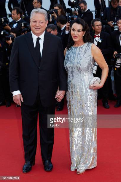 Al Gore attends the 70th Anniversary of the 70th annual Cannes Film Festival at Palais des Festivals on May 23 2017 in Cannes France
