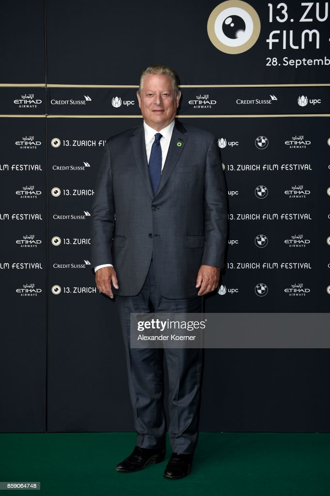 Al Gore attends the 'An Inconvenient Sequel' premiere at the 13th Zurich Film Festival on October 8, 2017 in Zurich, Switzerland. The Zurich Film Festival 2017 will take place from September 28 until October 8.