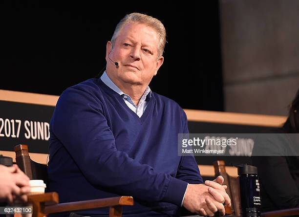 Al Gore attends the New Climate Lunch Roundtable on day 4 of the 2017 Sundance Film Festival at Wahso Asian Grill on January 22 2017 in Park City Utah