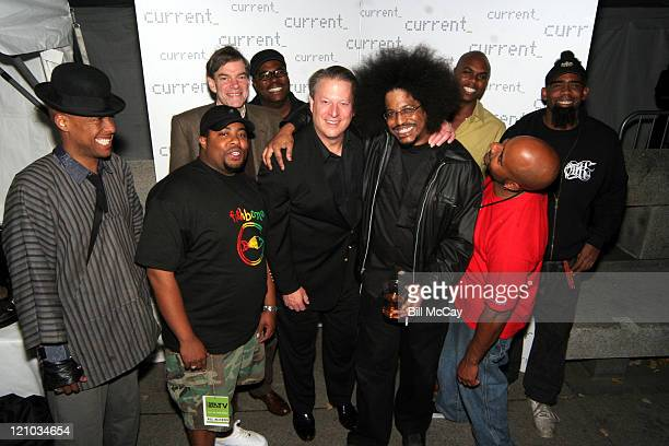 Al Gore Current TV Chairman and Joel Hyatt CEO of Current TV with Fishbone
