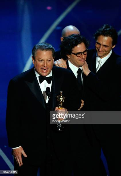 Al Gore, Davis Guggenheim and producers accepts Best Documentary Feature award for ?An Inconvenient Truth? during the 79th Annual Academy Awards at...