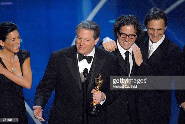 Al Gore, Davis Guggenheim and producers accepts Best Documentary Feature award for ?An Inconvenient Truth? at the Kodak Theatre in Los Angeles,...