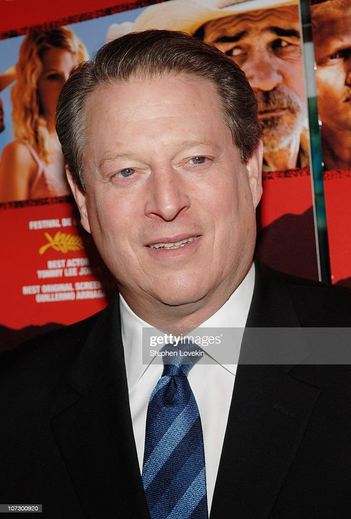 Al Gore during 'The Three Burials of Melquiades Estrada' New York City Premiere - Inside Arrivals at The Paris Theatre in New York City, New York, United States.