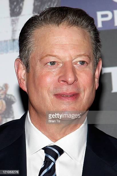 """Al Gore presents and signs copies of """"Our Choice"""" at Saban Theater on November 12, 2009 in Beverly Hills, California."""