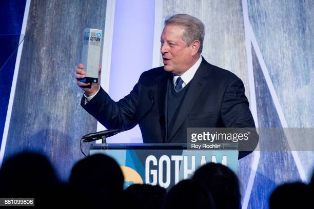Al Gore speaks onstage during IFP's 27th Annual Gotham Independent Film Awards at Cipriani Wall Street on November 27 2017 in New York City