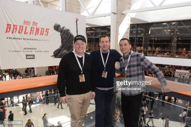 Al Gough Daniel Wu and Miles Millar attend AMC's 'Into the Badlands' premiere screening and panel at C2E2 on March 23 2019 in Chicago Illinois