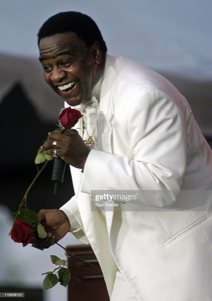 Al Green in concert at the Michigan State Fair in Detroit, Michigan USA