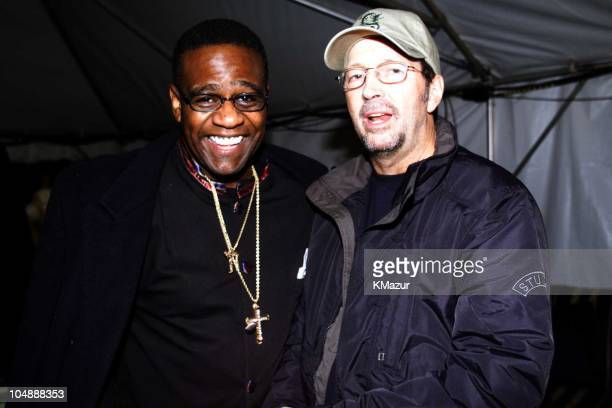 Al Green Eric Clapton during VH1 Concert of the Century rehearsals in Washington DC DC United States