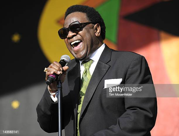 Al Green performs as part of the 2012 New Orleans Jazz Heritage Festival at Fair Grounds Race Course on April 29 2012 in New Orleans Louisiana