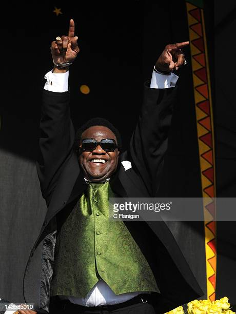 Al Green performs during the 2012 New Orleans Jazz Heritage Festival at the Fair Grounds Race Course on April 29 2012 in New Orleans Louisiana