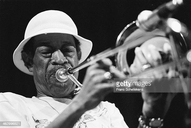 Al Grey, trombone, performs at the North Sea Jazz Festival in the Hague, the Netherlands on 12 July 1990.