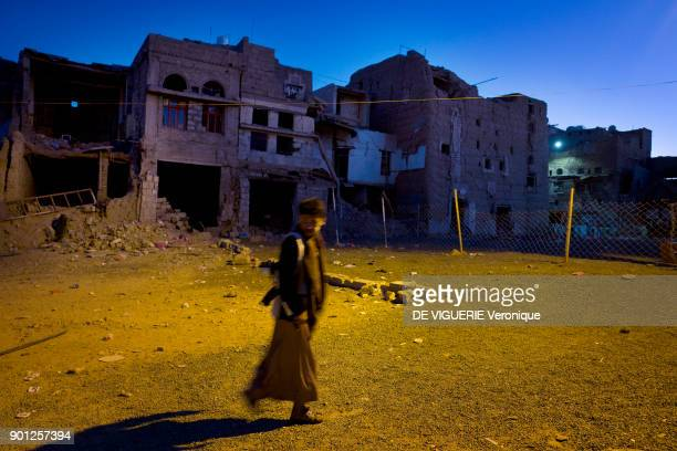 Al Hadi Mosque very holy place for Houthis and its quarters were heavily damaged in fighting Saada had been declared as a war zone giving a green...