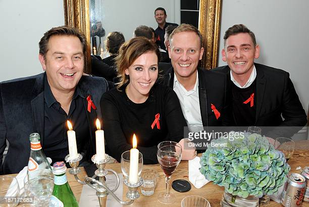 R Al Hall Taylor Dee Koppang Antony Cotton and Peter Eccleston attends a 'Supper Club' dinner hosted by Dermot O'Leary for the Terrence Higgins Trust...