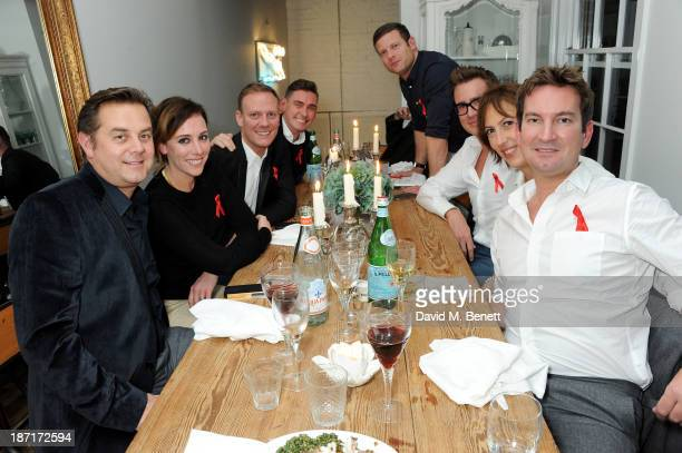 Al Hall Taylor Dee Koppang Antony Cotton Peter Eccleston Dermot O'Leary William BanksBlaney Miranda Hart and Ed Havard attend a 'Supper Club' dinner...
