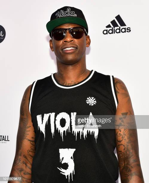 Al Harrington arrives at the 5th Annual Athletes vs Cancer Celebrity Flag Football Game at Fairfax High School on August 12 2018 in Los Angeles...