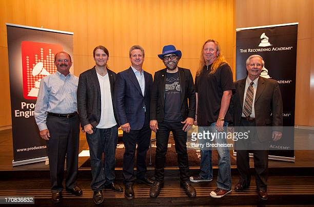 Al Hershner Matt Hennessy Mark Brunner Daniel Lanois Larry Sturm and Sandy LaManti at the GRAMMY SoundTables Behind The Glass With Daniel Lanois at...