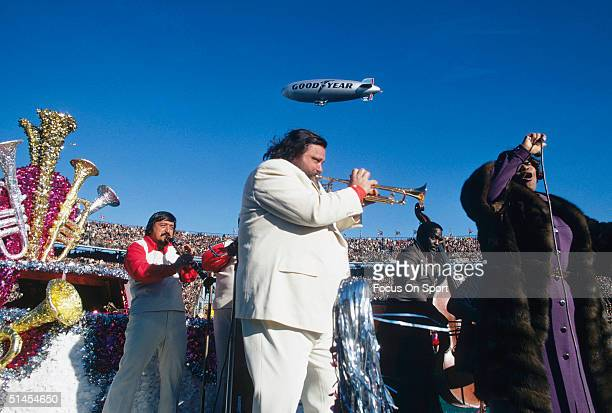 Al Hirt and his band plays during half time of Super Bowl VI featuring the Dallas Cowboys and the Miami Dolphins at Tulane Stadium in New Orleans...