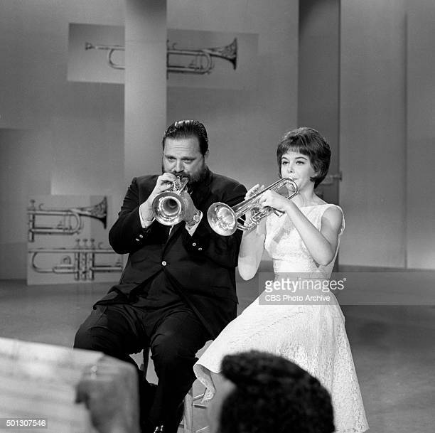 Al Hirt host of the show and Carole Reinhart perform on FANFARE Image dated June 16 1965 Original air date June 19 1965