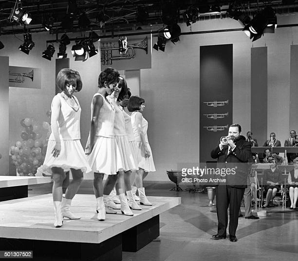 Al Hirt host of the show on trumpet with dancers on FANFARE Image dated June 16 1965 Original air date June 19 1965