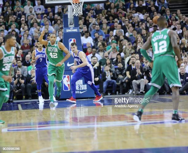 Al Horford of Boston Celtics in action during the NBA game between Boston Celtics and Philadelphia 76ers at the O2 Arena in London England on January...