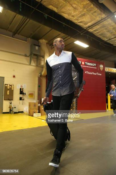 Al Horford of the Boston Celtics arrives to the arena prior to Game Six of the Eastern Conference Finals of the 2018 NBA Playoffs on May 25 2018 at...