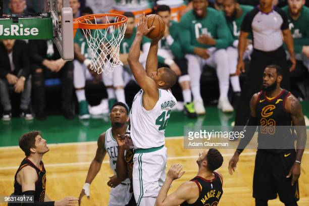 Al Horford of the Boston Celtics drives to the basket in the first half against the Cleveland Cavaliers during Game Seven of the 2018 NBA Eastern...