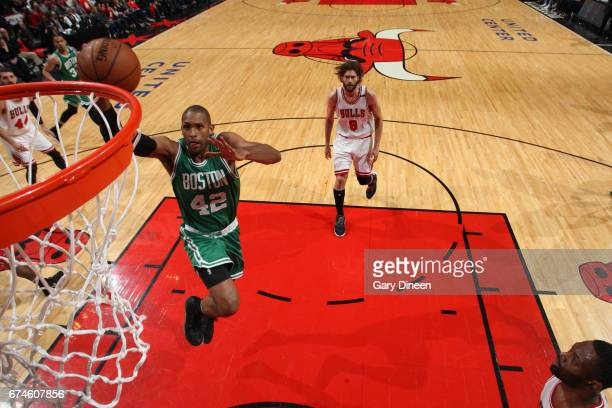 Al Horford of the Boston Celtics dunks against the Chicago Bulls in Game Six of the Eastern Conference Quartefinals of the 2017 NBA Playoffs on April...