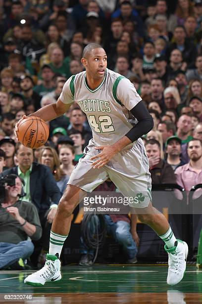 Al Horford of the Boston Celtics handles the ball against the Portland Trail Blazers on January 21 2017 at the TD Garden in Boston Massachusetts NOTE...