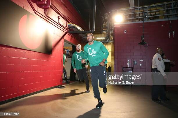 Al Horford of the Boston Celtics runs the tunnel prior to Game Six of the Eastern Conference Finals of the 2018 NBA Playoffs against the Cleveland...