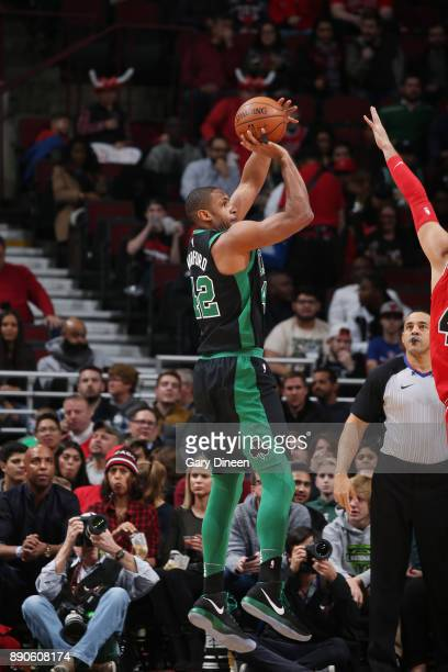 Al Horford of the Boston Celtics shoots the ball against the Chicago Bulls on December 11 2017 at the United Center in Chicago Illinois NOTE TO USER...