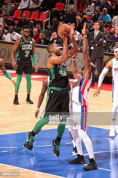 Al Horford of the Boston Celtics shoots the ball against the Detroit Pistons on December 10 2017 at Little Caesars Arena in Detroit Michigan NOTE TO...