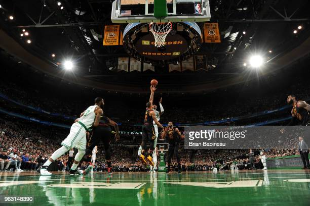 Al Horford of the Boston Celtics shoots the ball against the Cleveland Cavaliers during Game Seven of the Eastern Conference Finals of the 2018 NBA...
