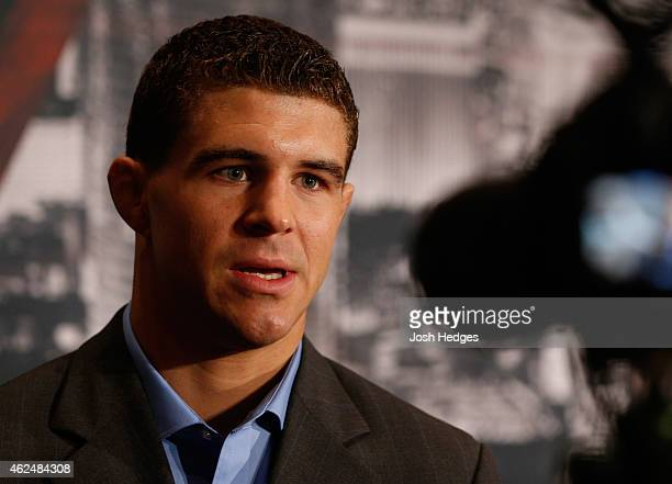 Al Iaquinta interacts with media during the UFC 183 Ultimate Media Day at the MGM Grand Hotel/Casino on January 29 2015 in Las Vegas Nevada