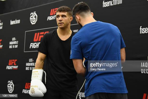 Al Iaquinta participates in open workouts on December 12 2018 in Milwaukee Wisconsin
