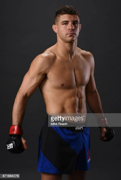 Al Iaquinta poses for a portrait backstage after his victory over Diego Sanchez during the UFC Fight Night event at Bridgestone Arena on April 22...