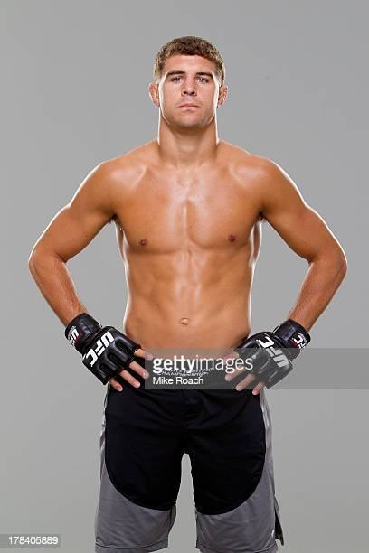 Al Iaquinta poses for a portrait during a UFC photo session at the Hilton Milwaukee City Center on August 29 2013 in Milwaukee Wisconsin
