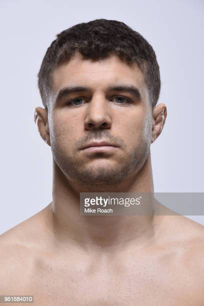 Al Iaquinta poses for a portrait during a UFC photo session on April 4 2018 in Brooklyn New York