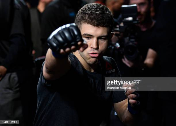 Al Iaquinta prepares to fight Khabib Nurmagomedov in their lightweight title bout during the UFC 223 event inside Barclays Center on April 7 2018 in...
