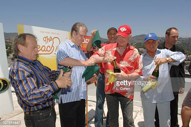 Al Jardine Brian Wilson David Marks Mike Love and Bruce Johnston of the Beach Boys celebrate domestic sales of more than 2 million units for the...