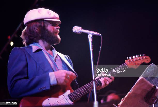 Al Jardine performs with The Beach Boys at the Oakland Coliseum Arena on December 15 1976 in Oakland California