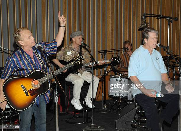 Al Jardine Probyn Gregory and Brian Wilson during Brian Wilson Performs Songs From Pet Sounds to Support Definitive 200 Campaign at Capitol Studios...