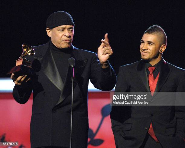 Al Jarreau winner Best Traditional RB Vocal Performance for God Bless the Child with son Ryan