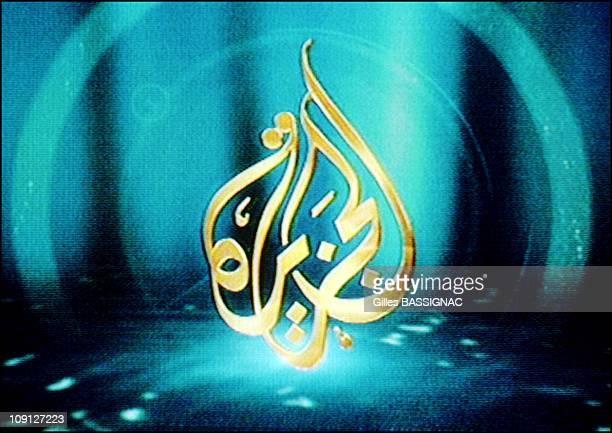 'Al Jazeera' The Arab World'S Counterpart To Cnn On October 13Th 2001 In Doha Qatar Al Jazeera Logo On Screen