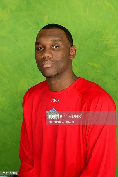 Al Jefferson of the Boston Celtics poses for a portrait during the 2005 NBA AllStar Media Availability on February 18 2005 at The Westin Hotel in...