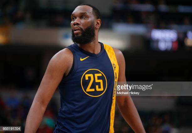 Al Jefferson of the Indiana Pacers is seen during the game against the Toronto Raptors at Bankers Life Fieldhouse on March 15 2018 in Indianapolis...
