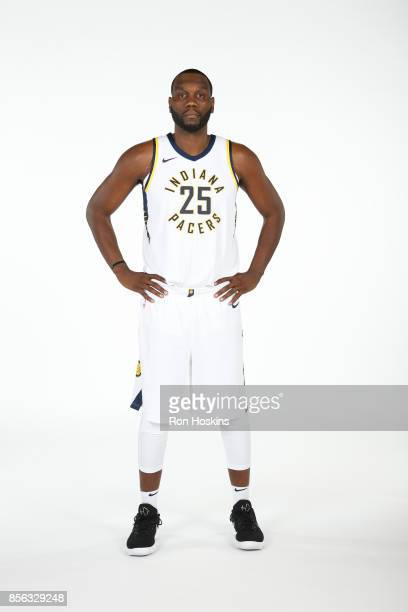 Al Jefferson of the Indiana Pacers poses for a portrait during the Pacers Media Day at Bankers Life Fieldhouse on September 25 2017 in Indianapolis...